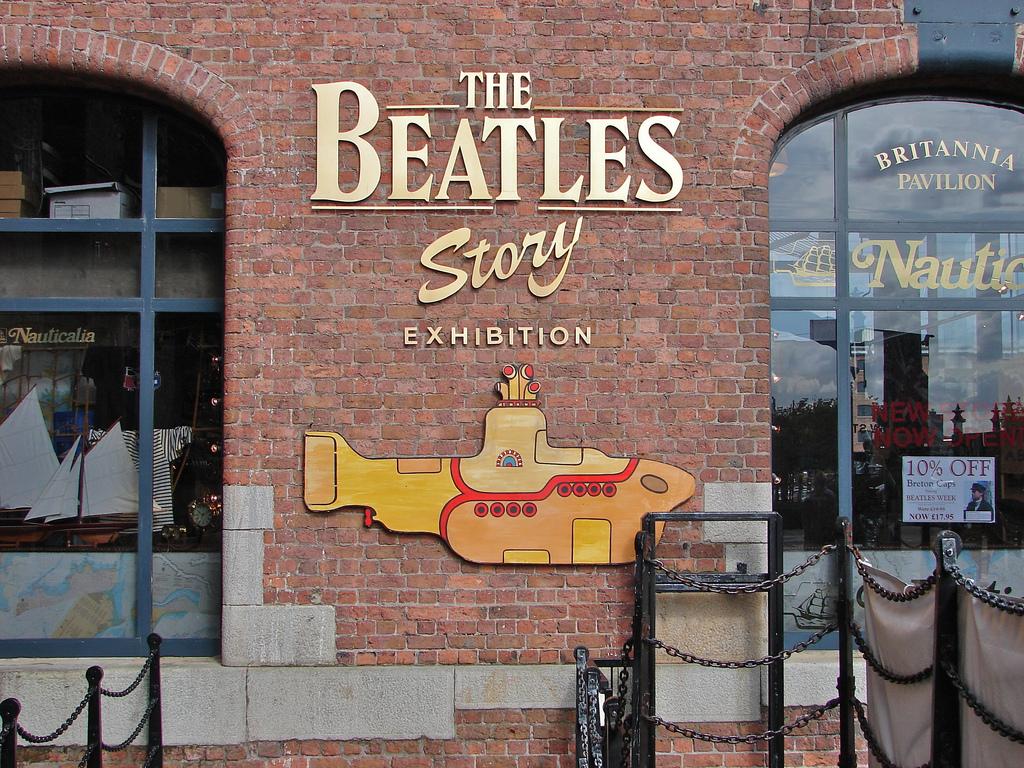 Альберт-док в Ливерпуле, аттракцион-музей Тhe Beatles Story