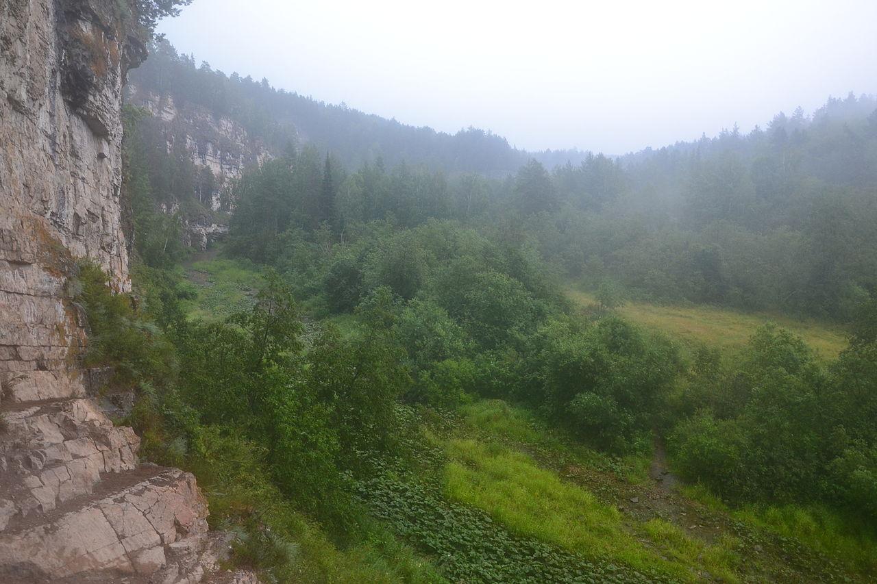 Игнатьевская пещера, вид на окрестности