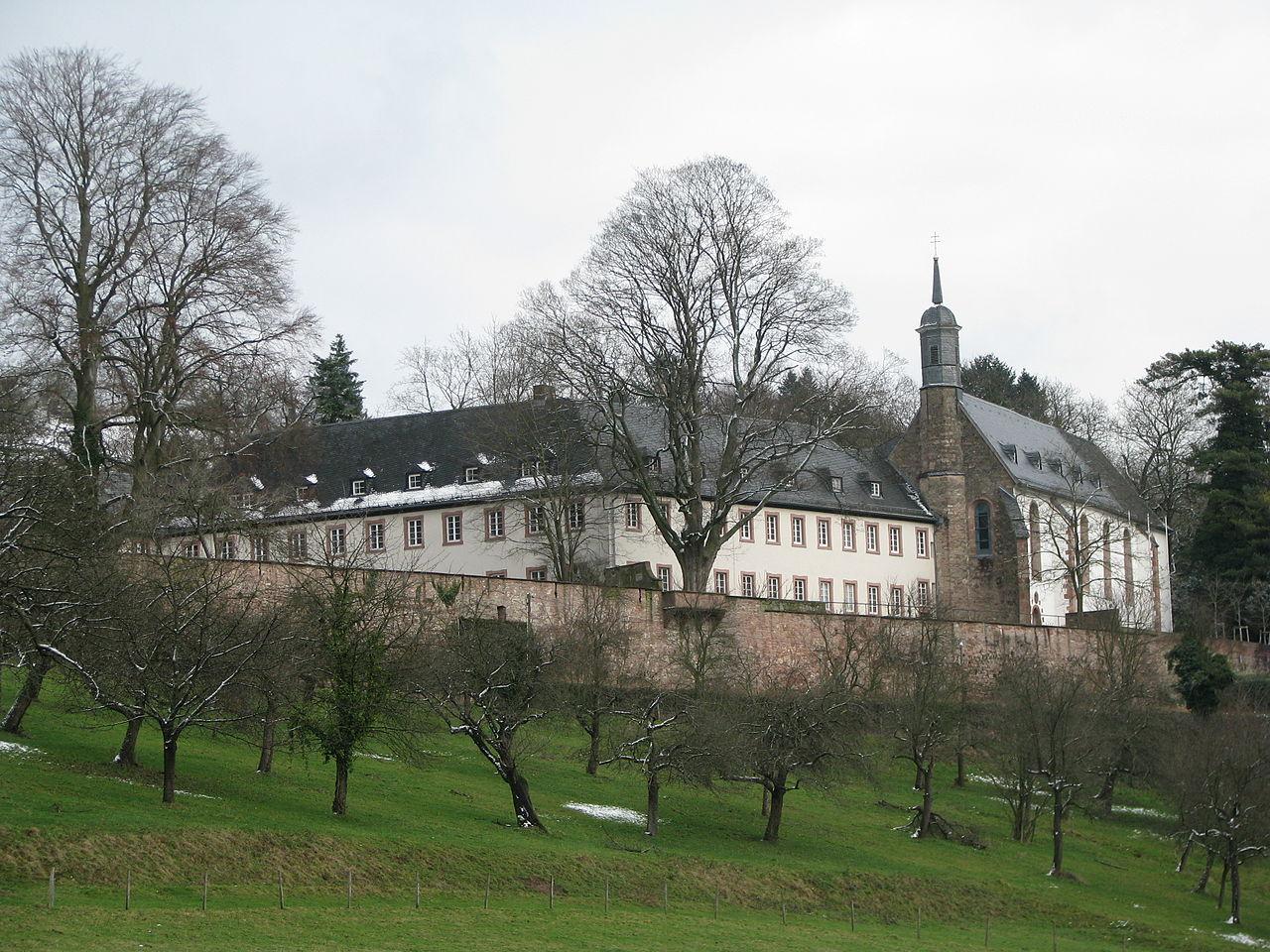 Вид на аббатство Нойбург, Германия