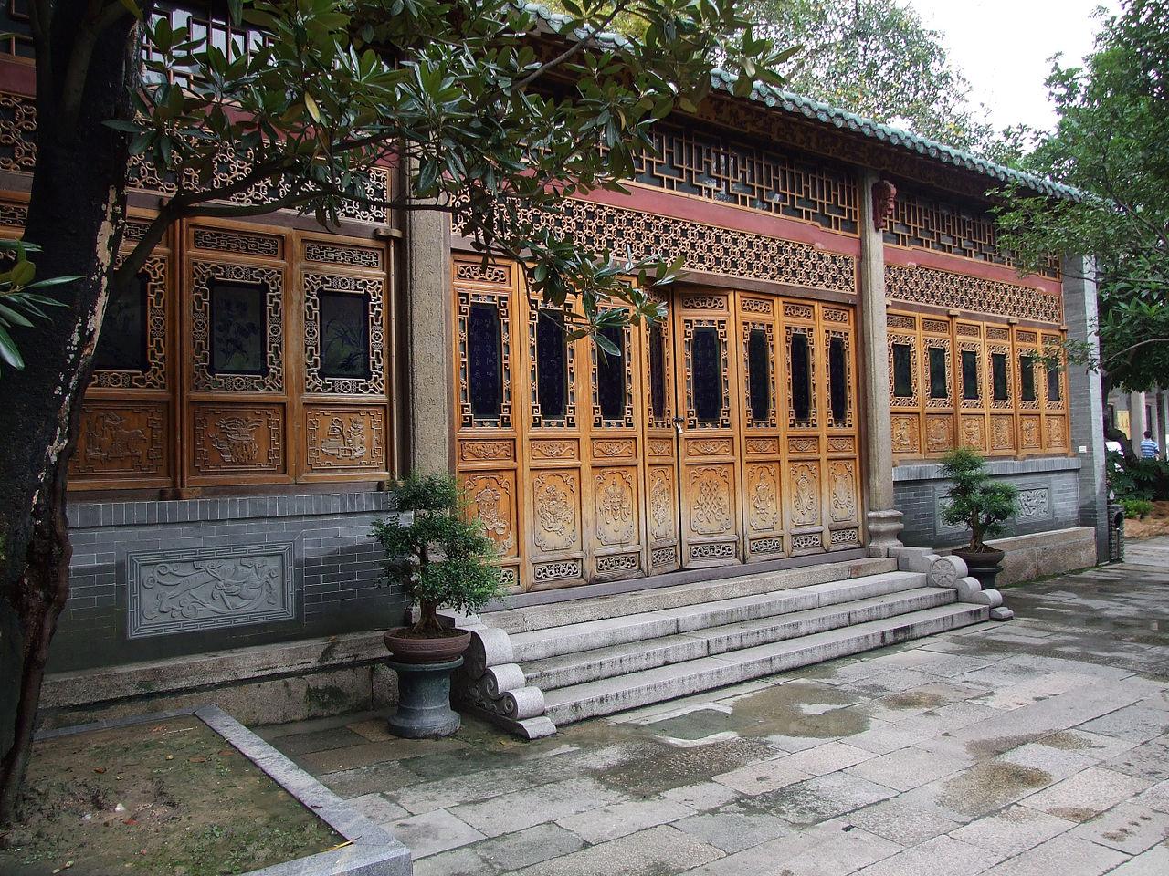 Храм Шести баньяновых деревьев в Гуанчжоу, павильон