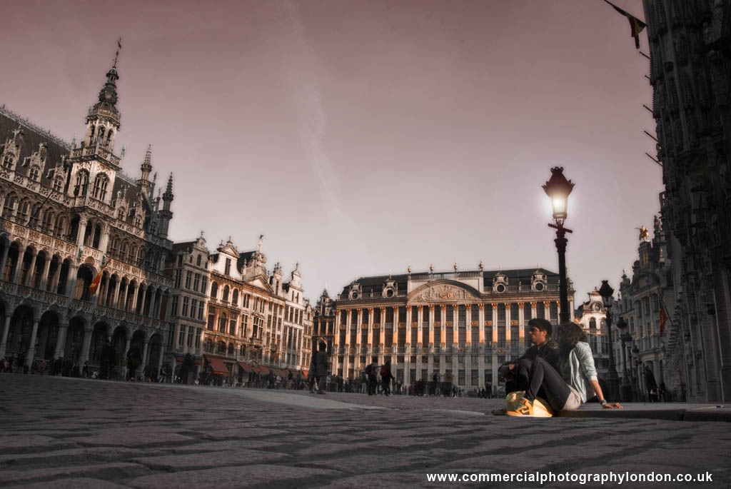 Гранд-Плас вечером, Брюссель