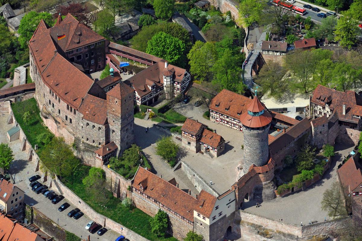 Нюрнбергская крепость, вид с воздуха