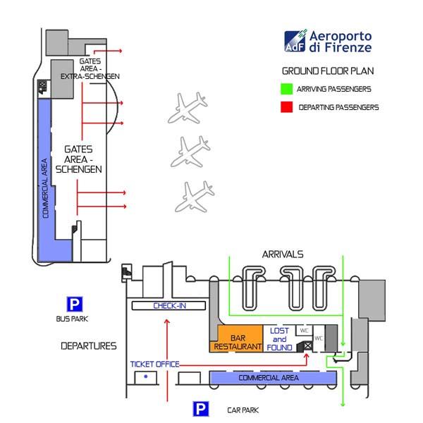 Аэропорт Флоренции: пассажирский терминал