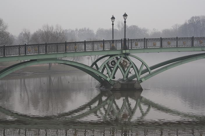 Украшение моста в Царицыно