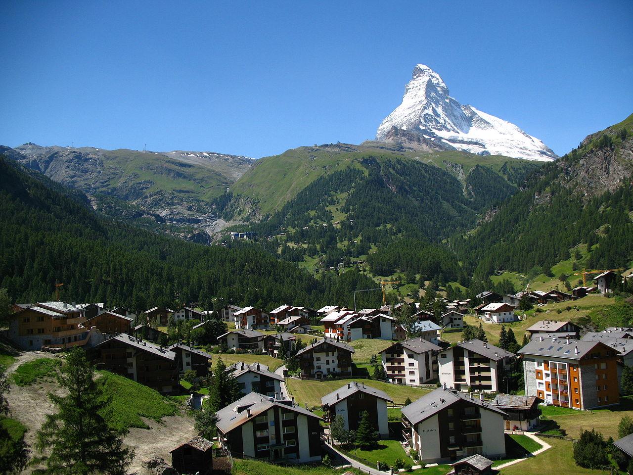 Швейцарские Альпы, курорт Церматт
