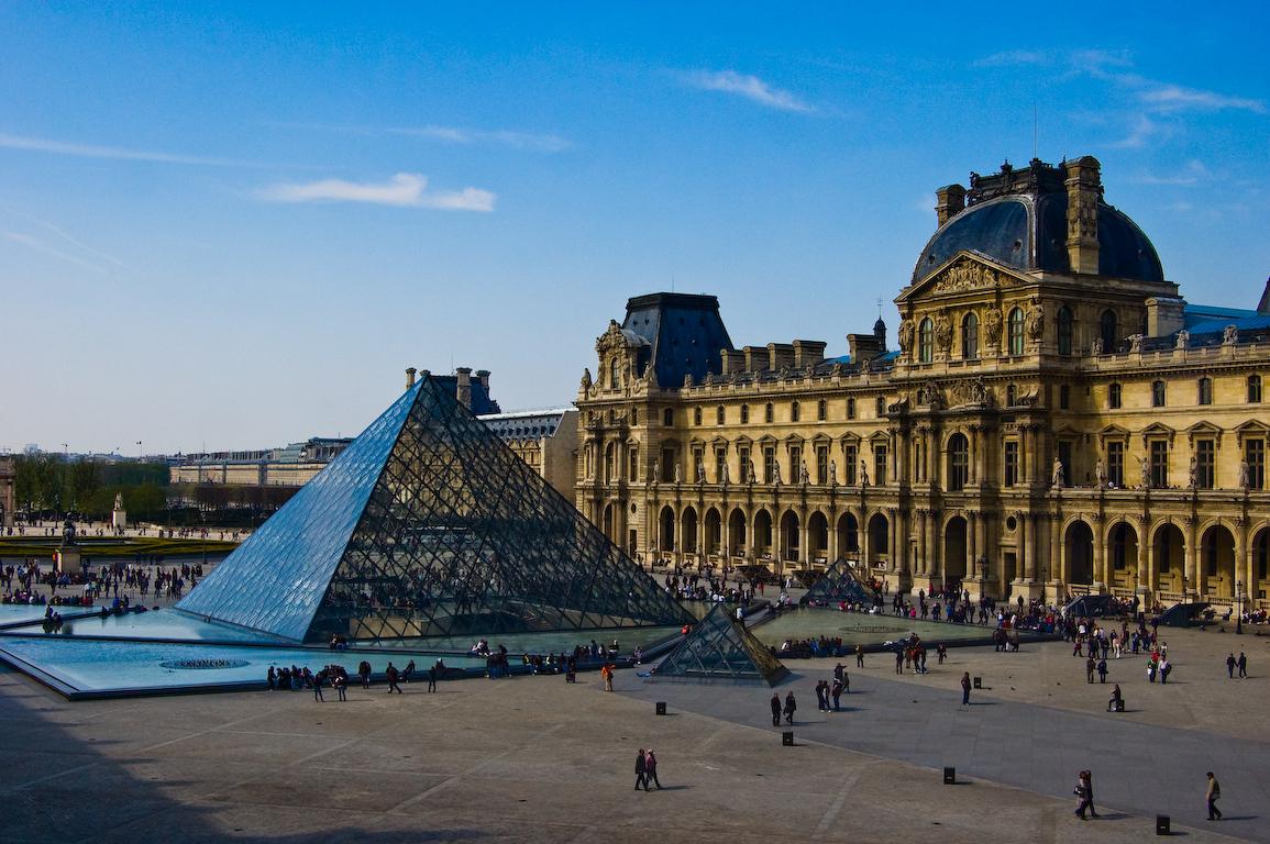Вид на Лувр, Париж