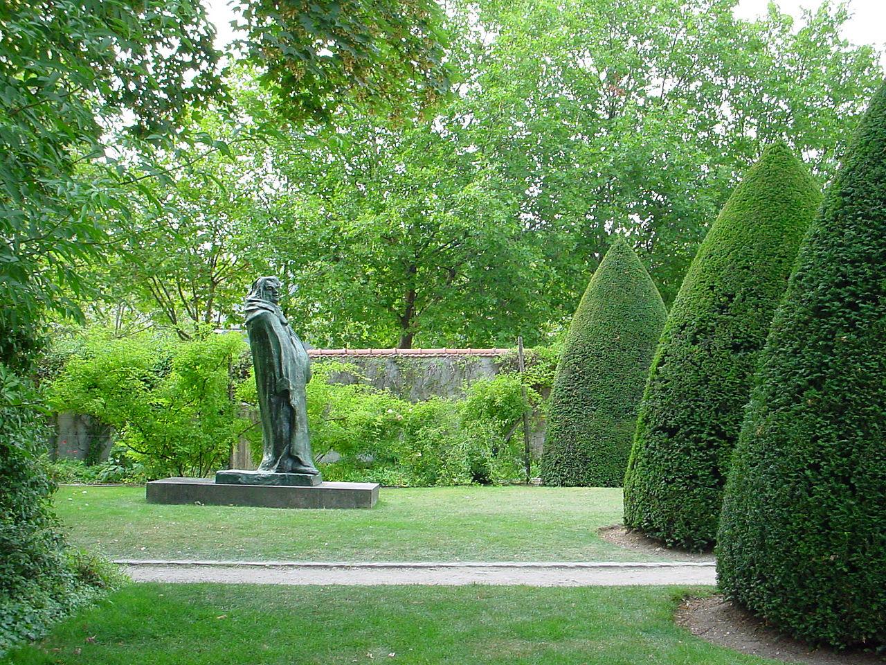Музей Родена в Париже, парк