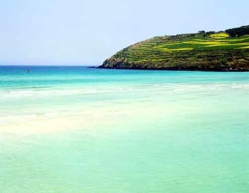 Райский пляж Хамдок в Южной Корее