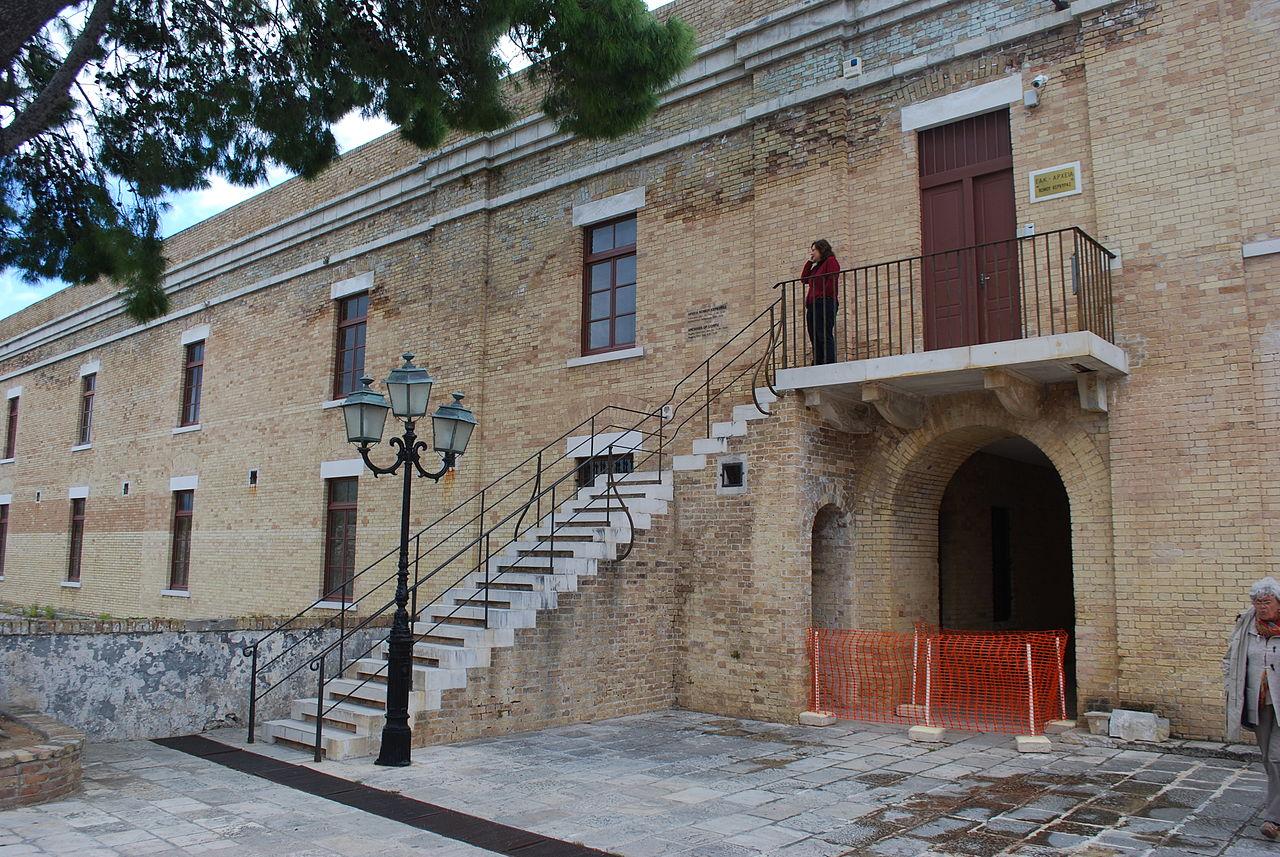 Старая крепость Керкиры, здание на территории форта