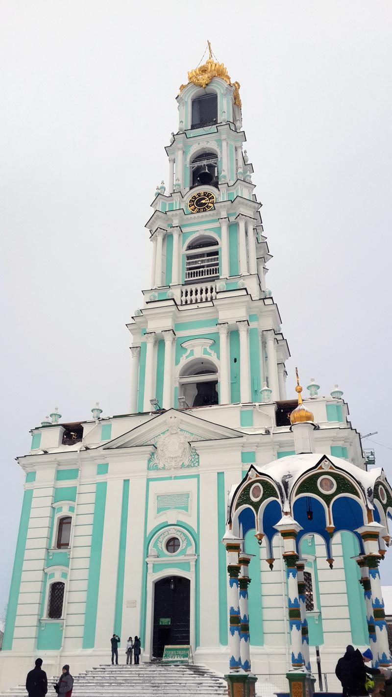 Колокольня зимой, Сергиев Посад