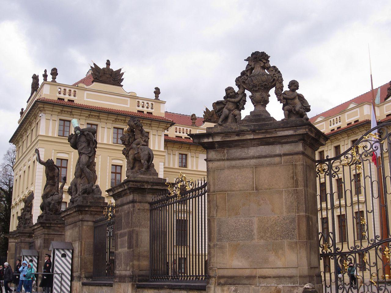Пражский Град, ограда