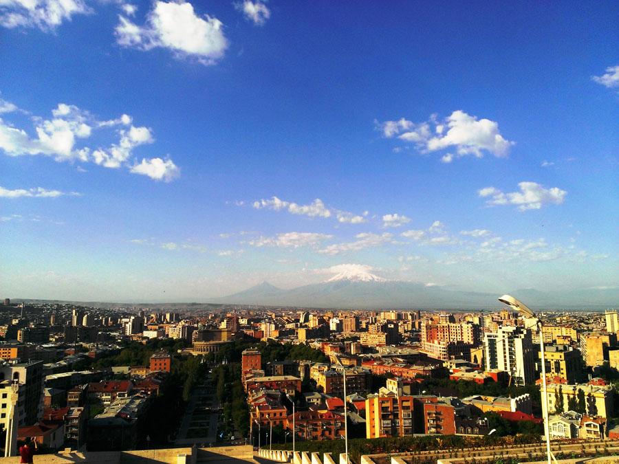 Арарат и центр Еревана