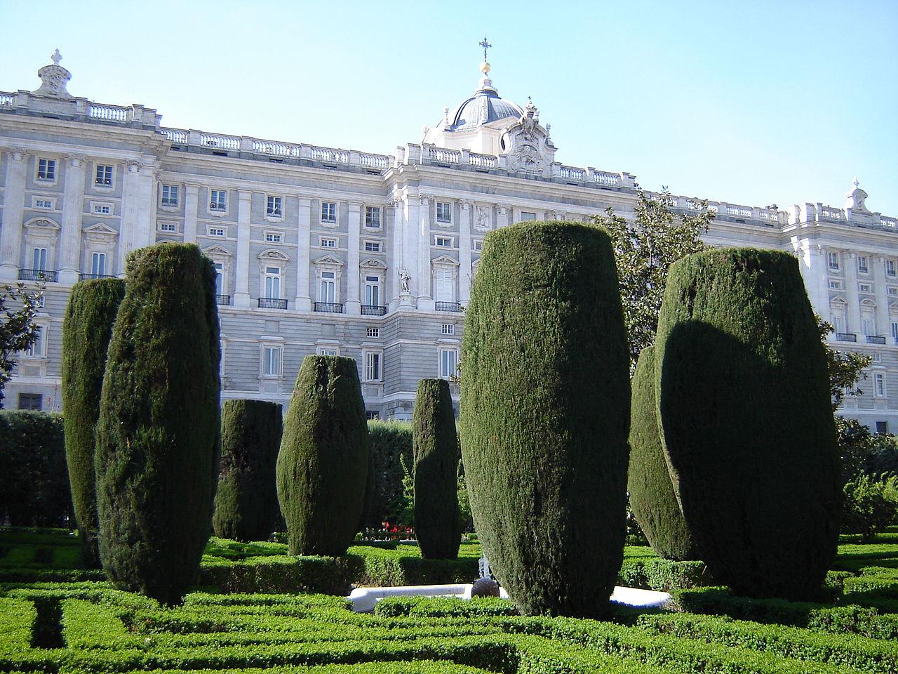 Королевский дворец в Мадриде, сад Jardines de Sabatini