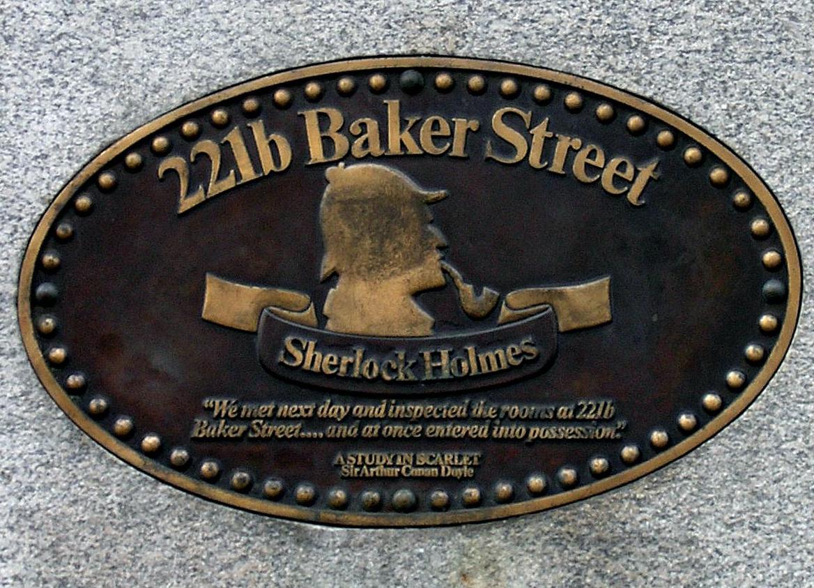 Музей Шерлока Холмса в Лондоне, табличка