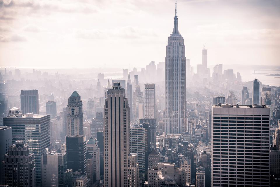 Потрясающий вид на небоскребы Нью-Йорка
