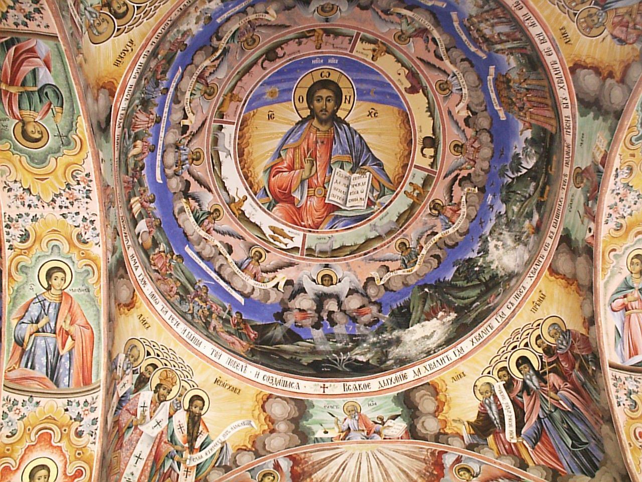 Рильский монастырь, фрески в главной церкви