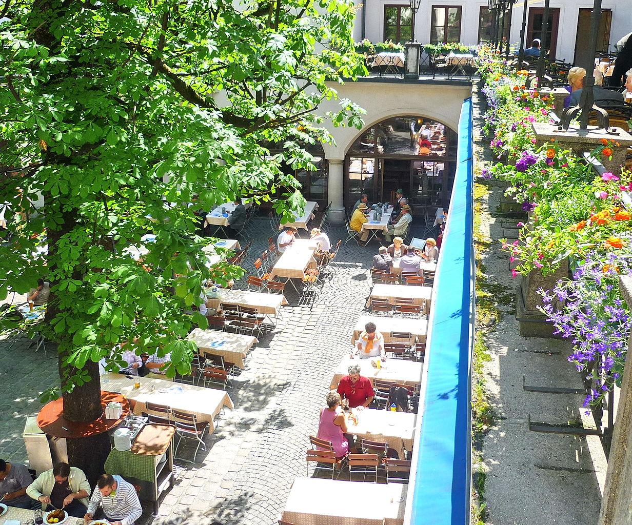 Хофбройхаус, пивной сад