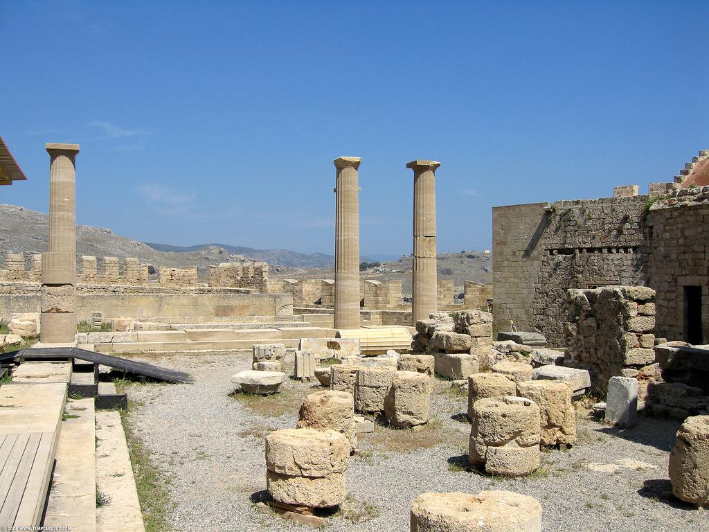 Акрополь в Линдосе, Греция