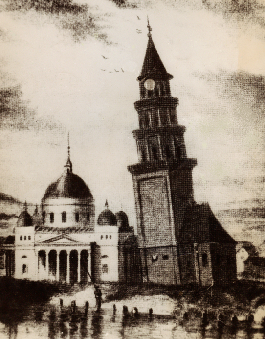 Рисунок Невьянской башни