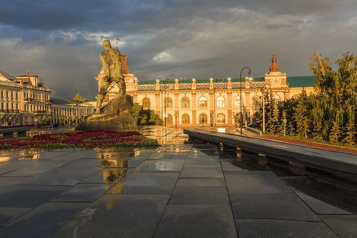 На територии Казанского кремля