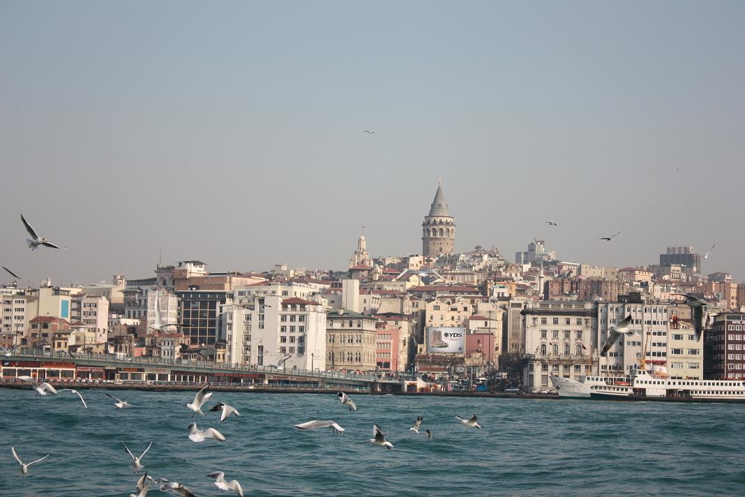 Вид на европейскую часть Стамбула