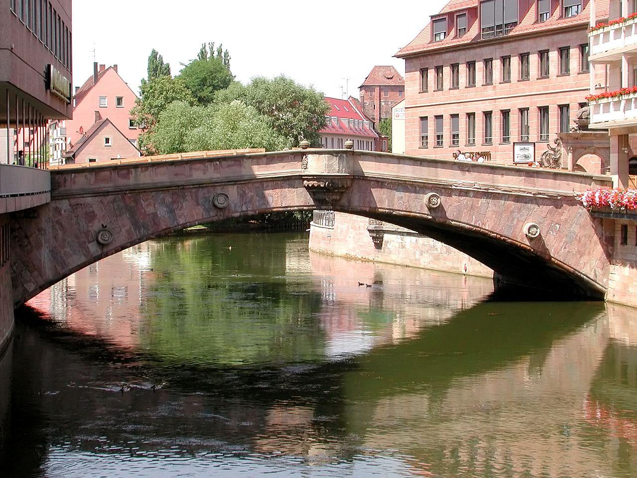Историческая миля Нюрнберга, Мясной мост