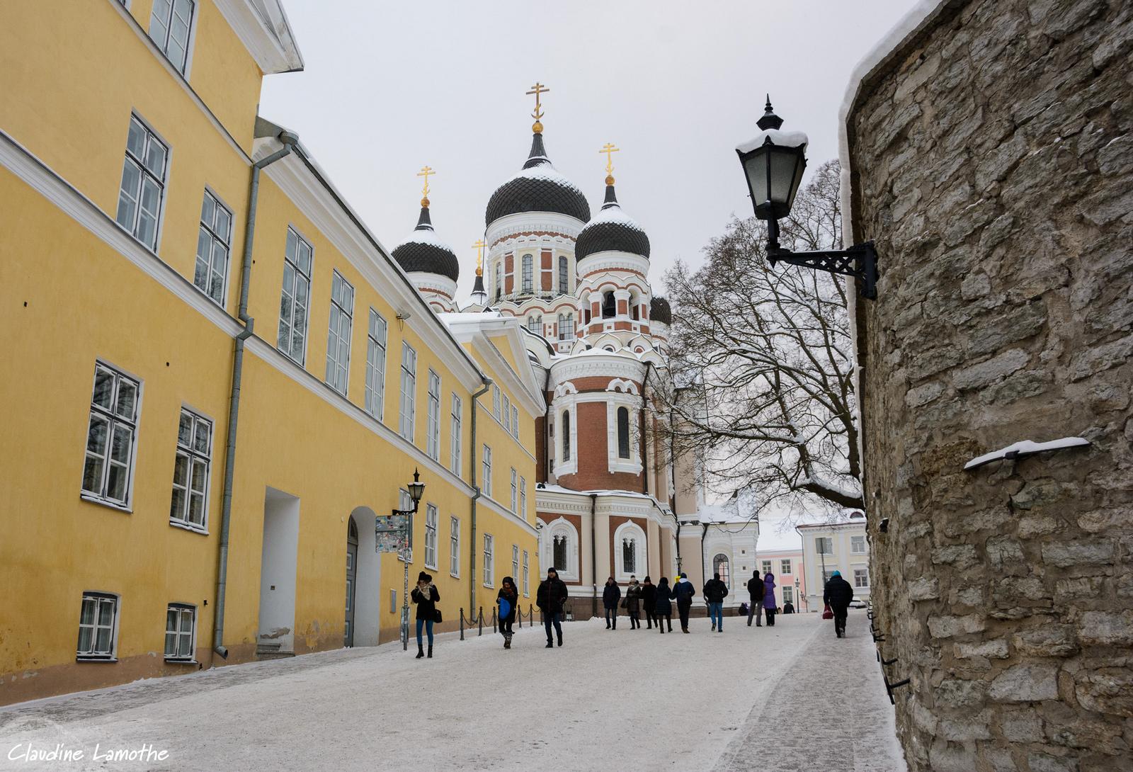 Вид на собор Александра Невского в Таллине