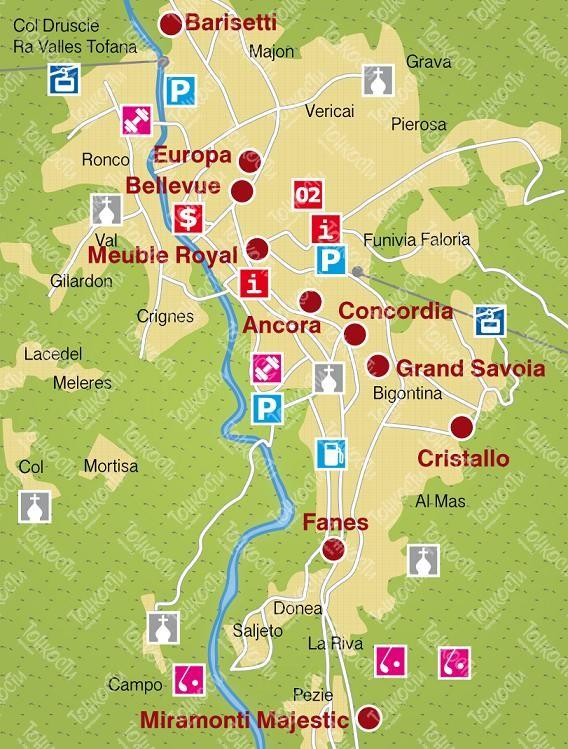 Карта-схема Кортины-д'Ампеццо