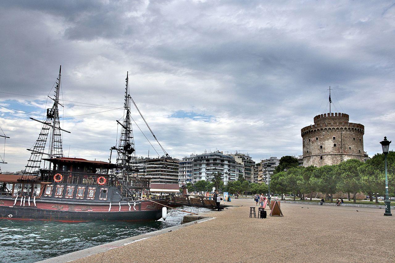Белая башня в Салониках, вид с юга