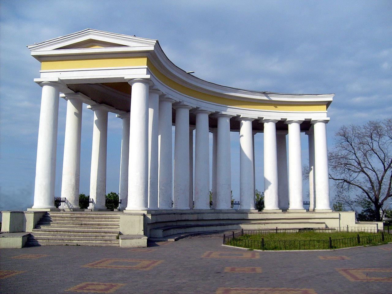 Воронцовский дворец, колоннада