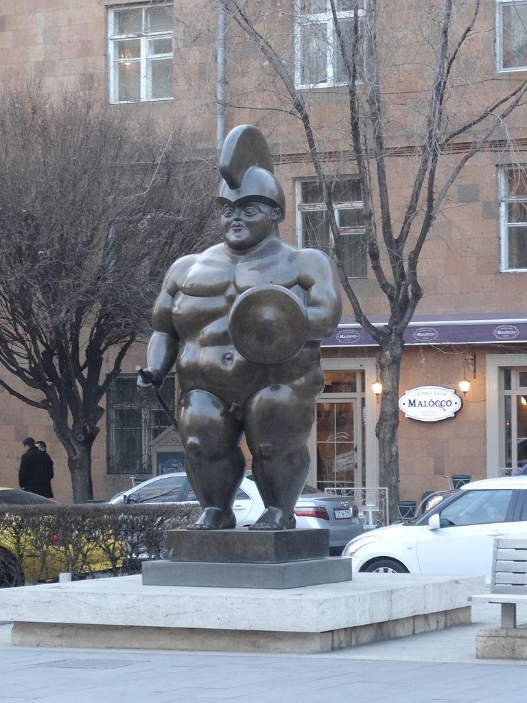 Каскад в Ереване, статуя римского воина