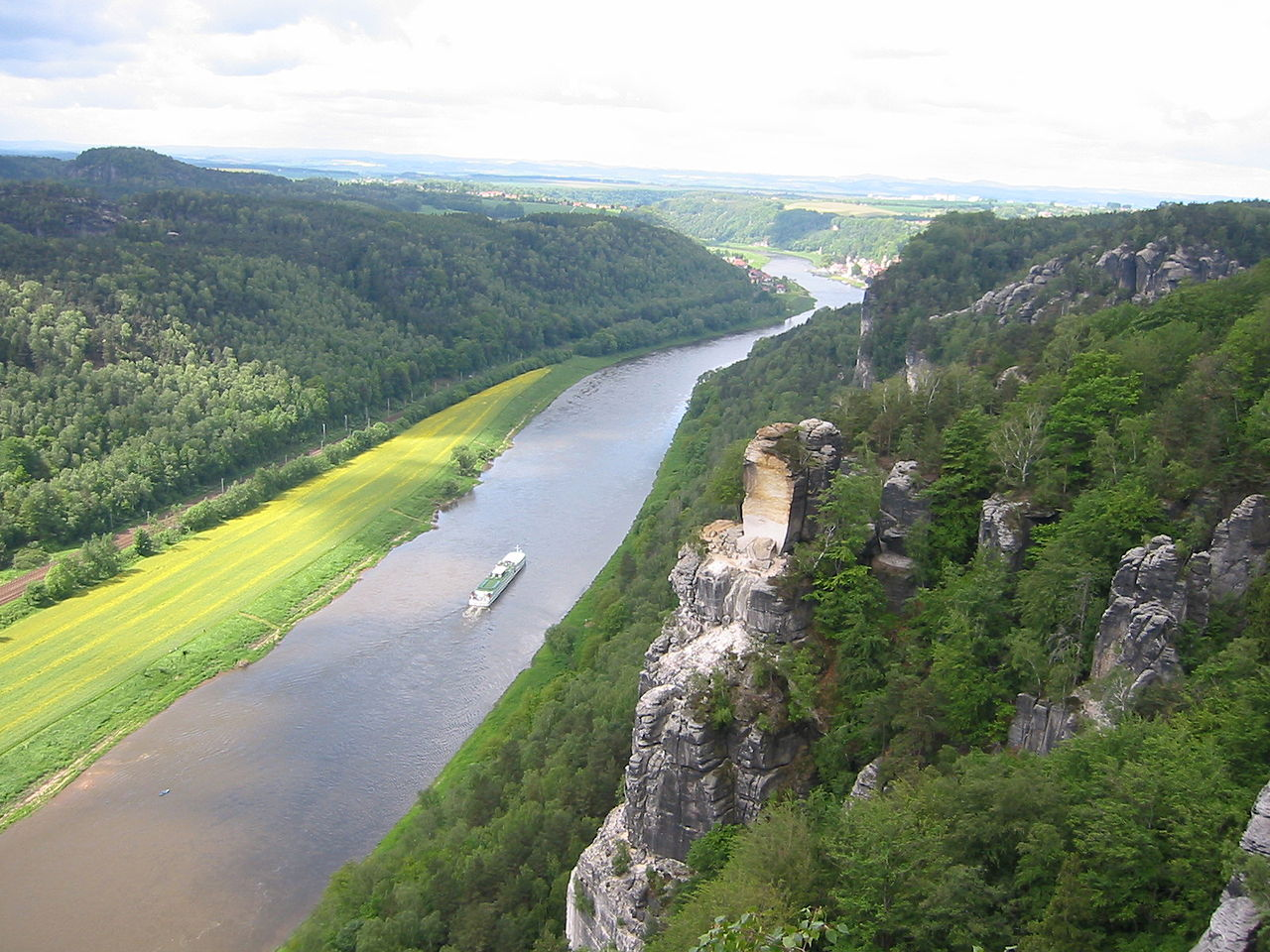 Саксонская Швейцария, Эльба и скала Варттурм