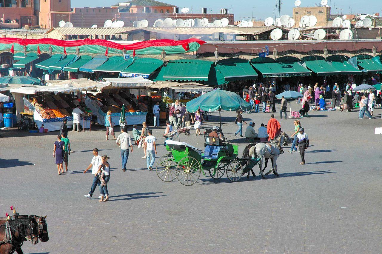 Площадь Джема эль-Фна, торговые ряды