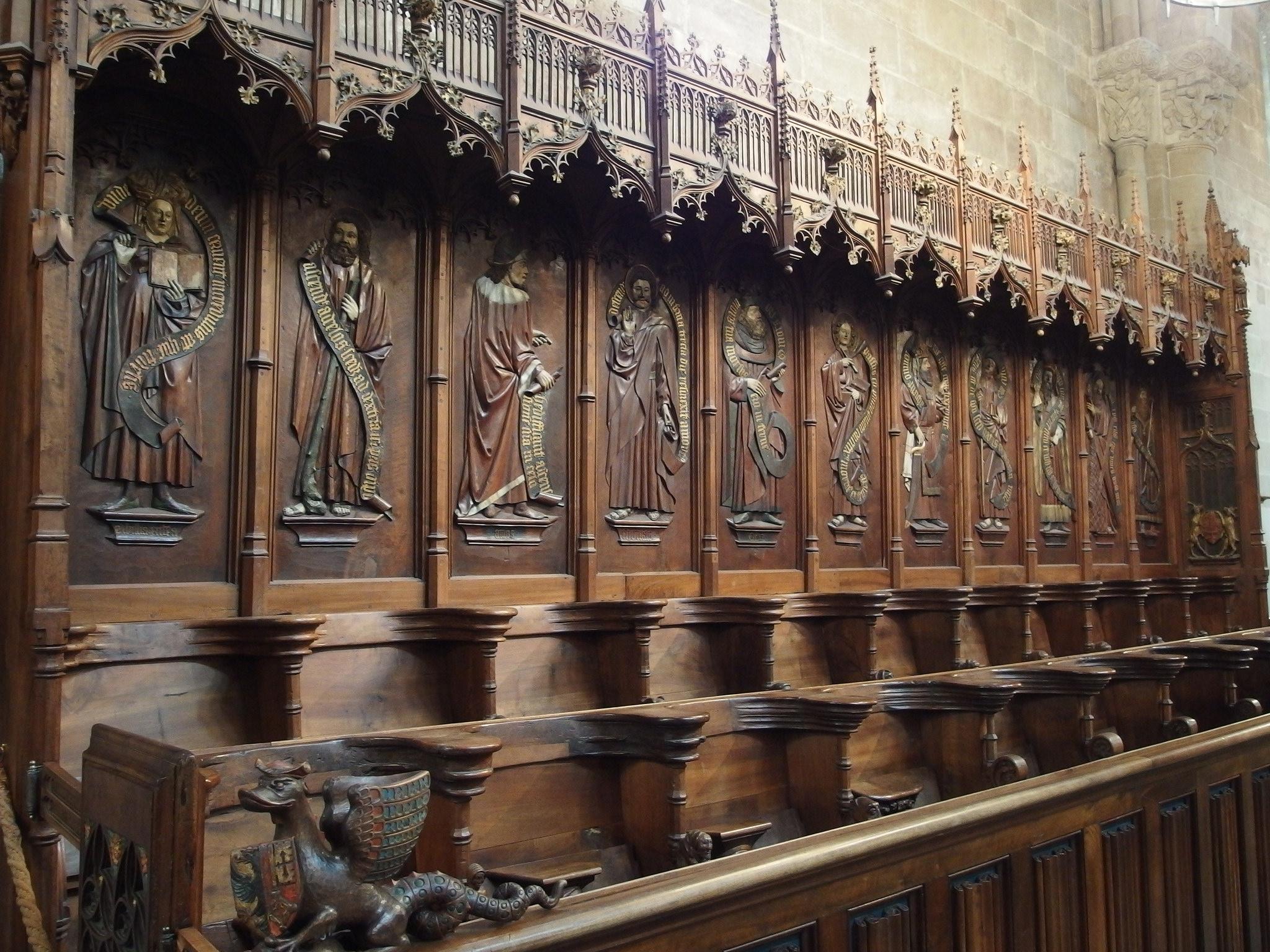 Собор святого Петра в Женеве, деталь интерьера
