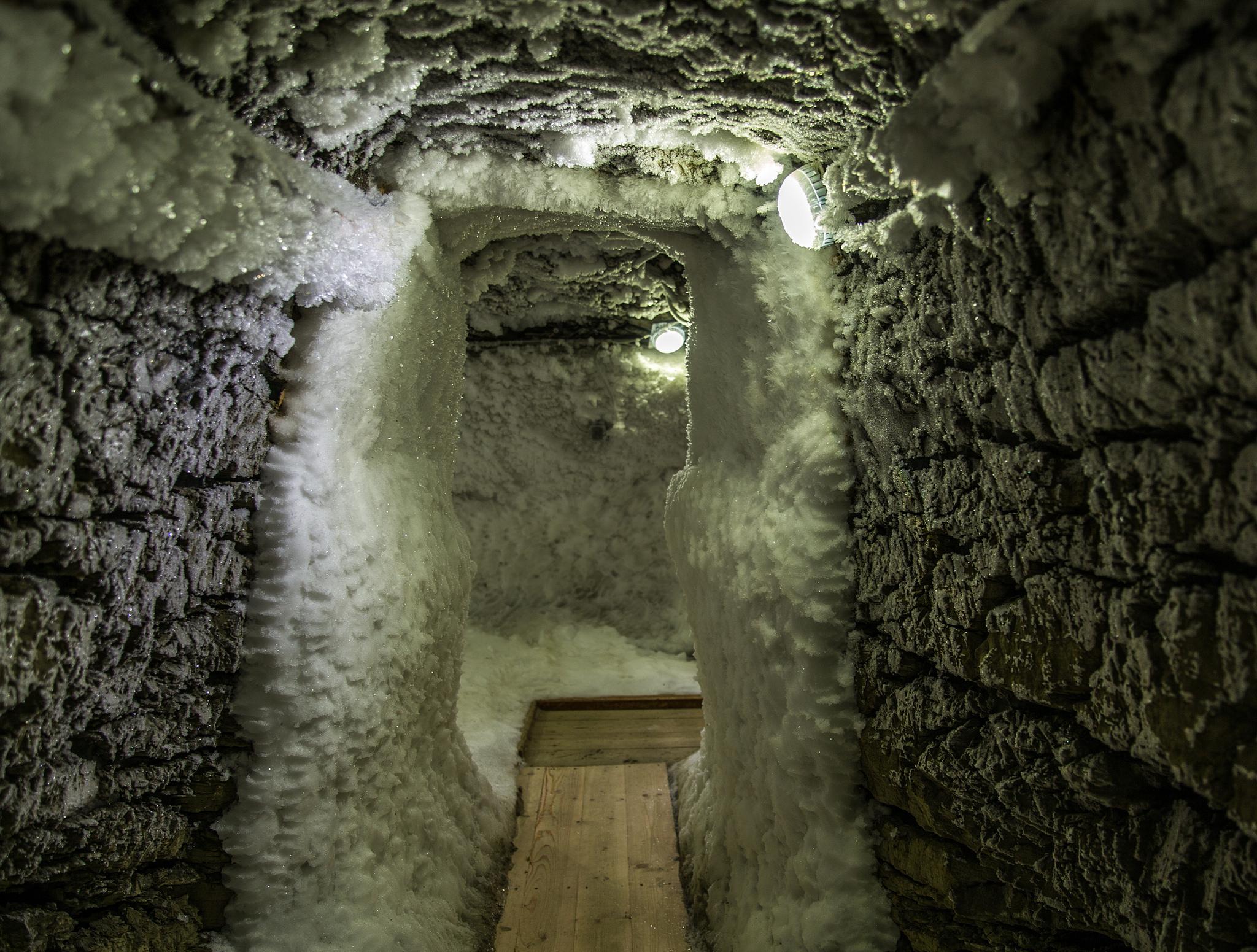 Музей вечной мерзлоты в Игарке, спуск