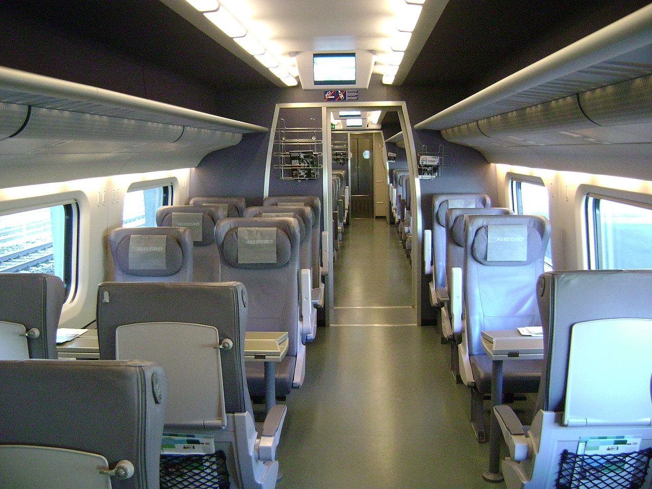 Скоростной поезд «Аллегро», вагон первого класса