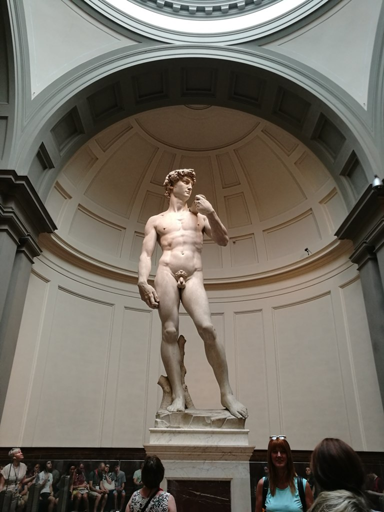 Скульптура Давида в музее во Флоренции, Италия