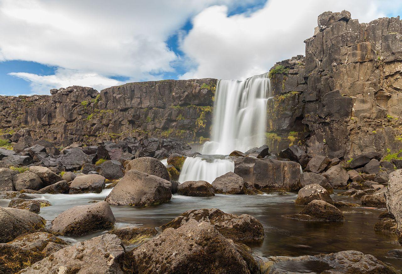 Национальный парк Тингвеллир, водопад