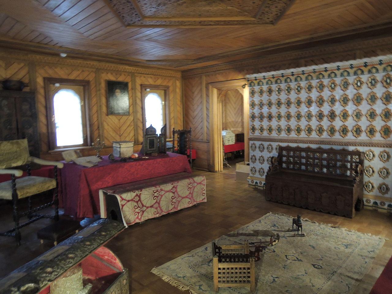 Палаты Романовых в Зарядье, интерьер
