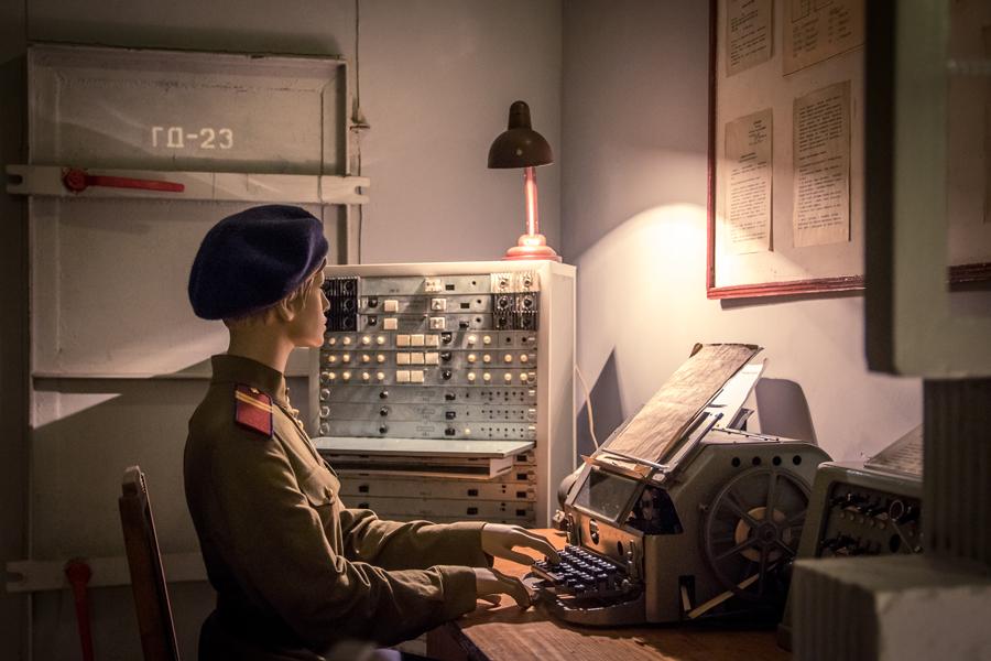 Экспозиция Музея Бункер-42 на Таганке