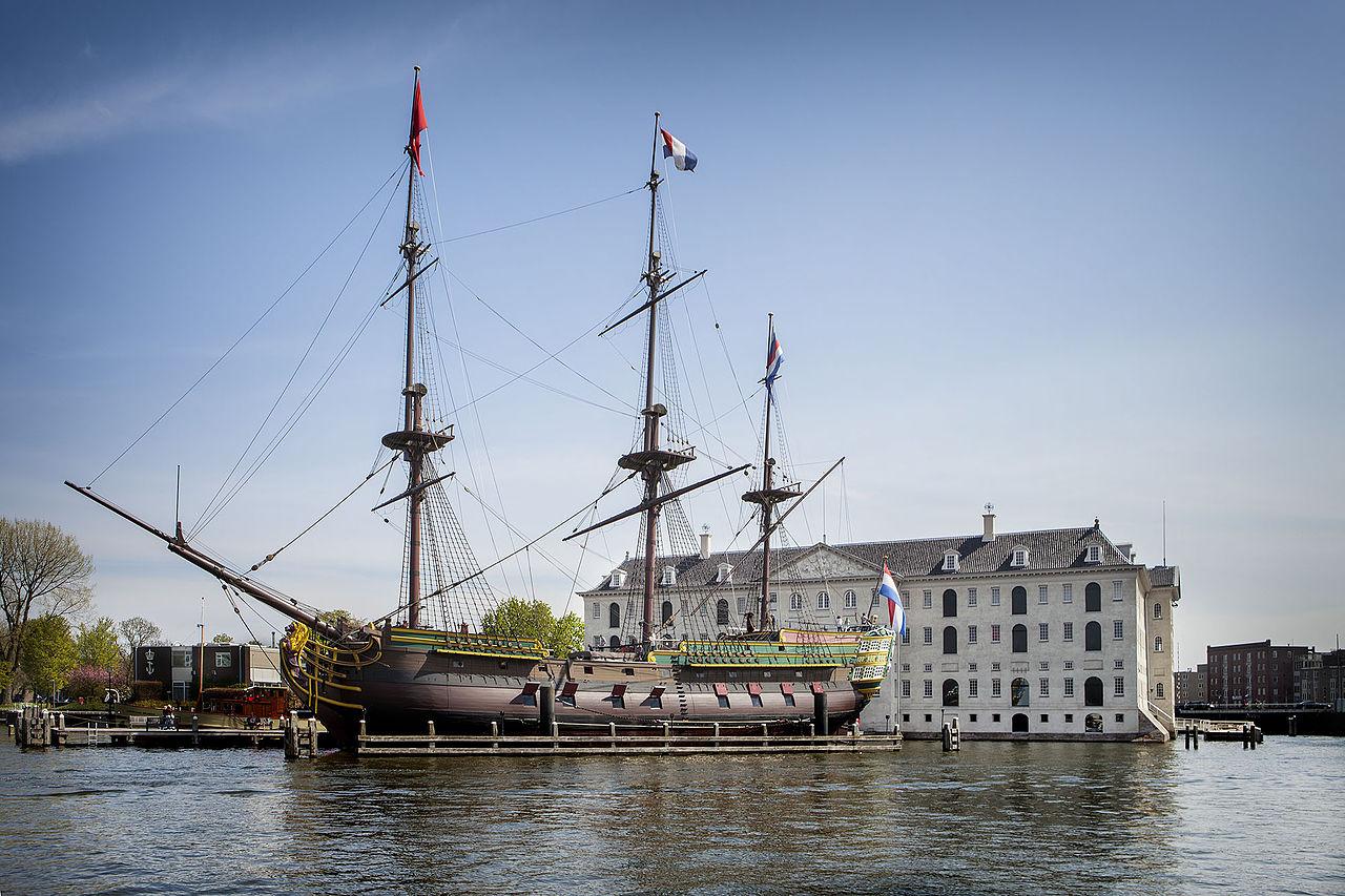 Музей судоходства в Амстердаме, реплика судна Амстердам
