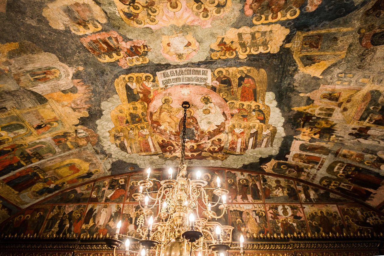 Церковь Ильи Пророка, потолочная роспись