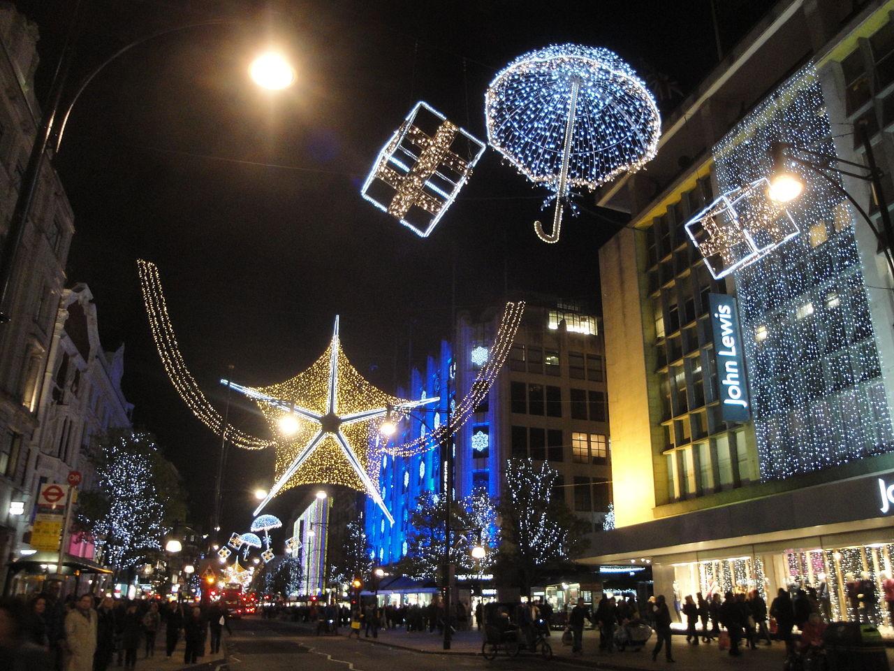 Оксфорд-стрит перед Рождеством