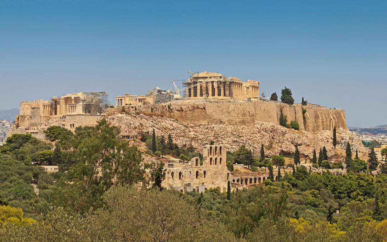 Парфенон в Афинах, панорама Акрополя