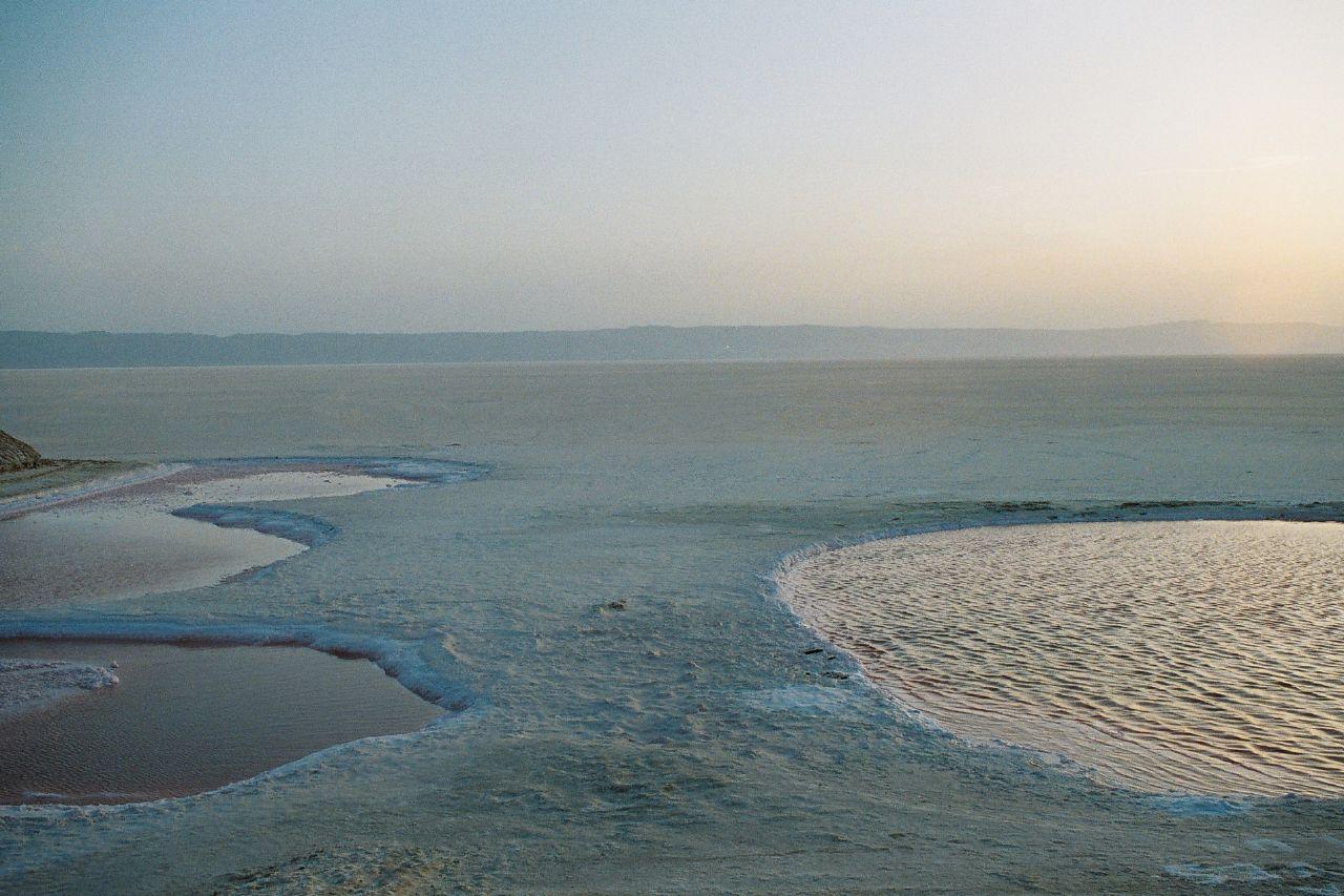 Восход солнца над озером Шотт-эль-Джерид