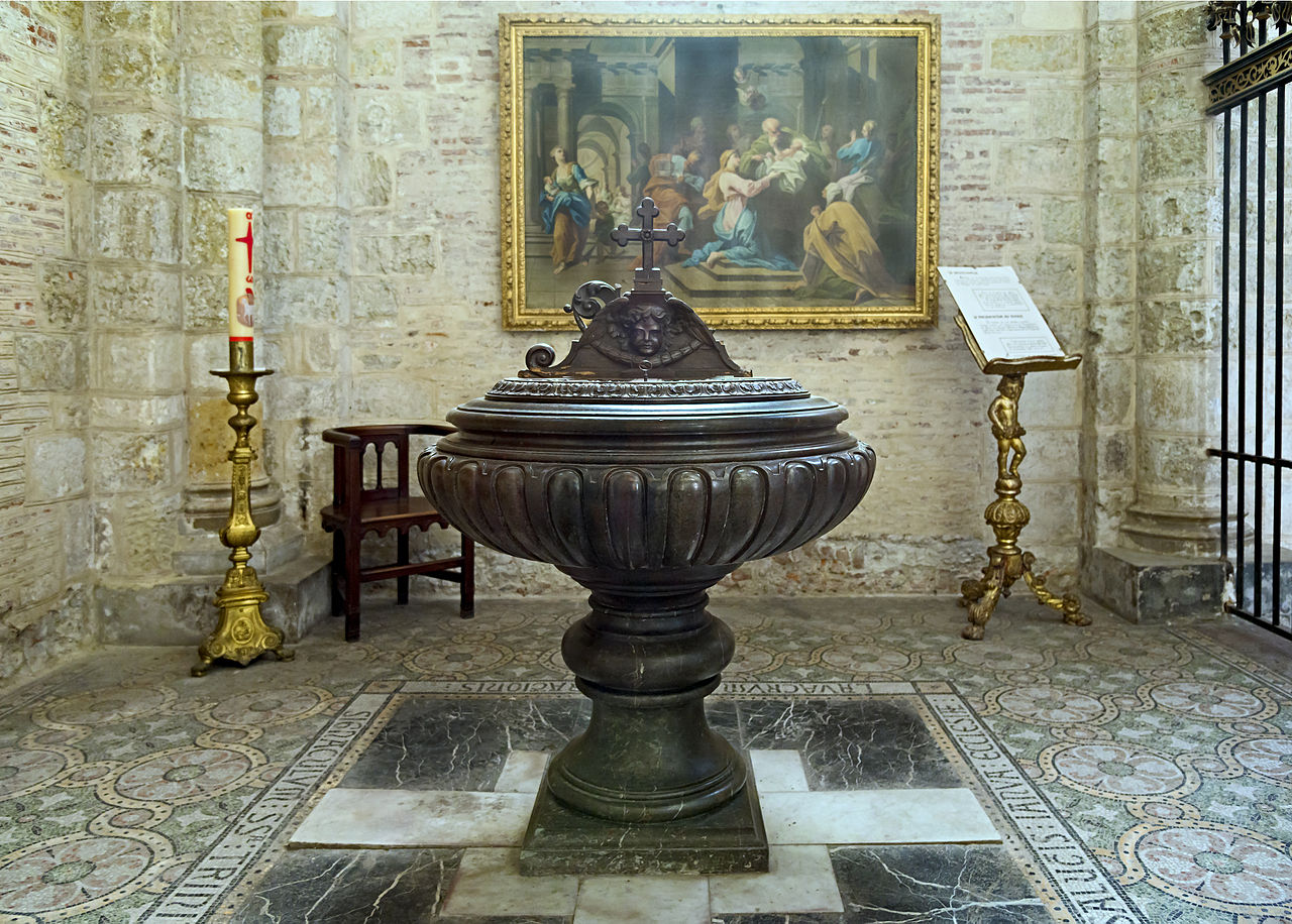 Базилика Сен-Сернен, купель