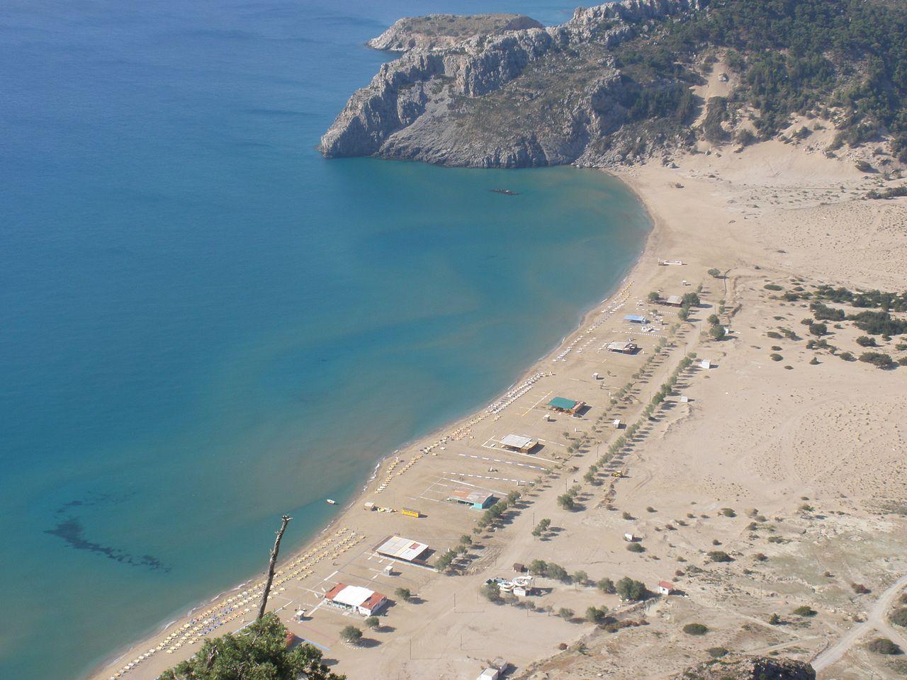 Пляж Тсамбика на Родосе, Греция