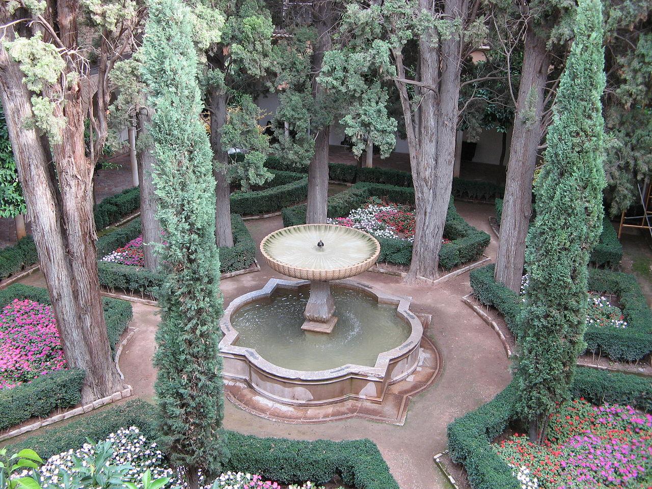 Сады Хенералифе, фонтан в саду султана