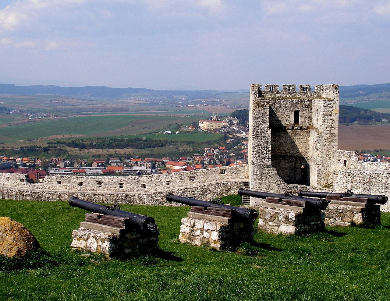 Спишский Град, замковые пушки