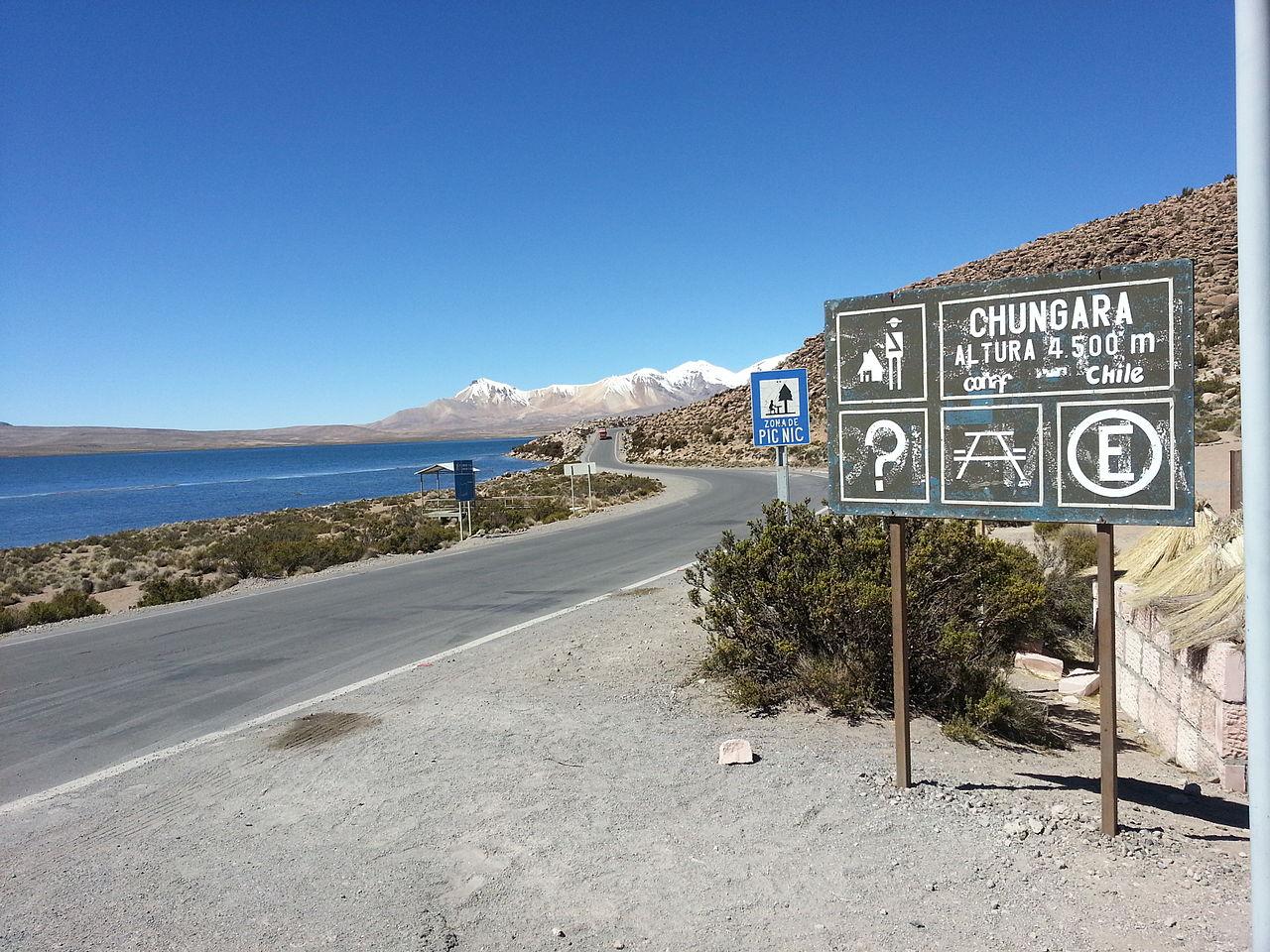 Озеро Чунгара, Чили